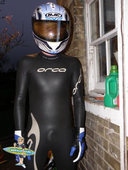 Orca speedsuit + HJC ZF-10 karlie helmet