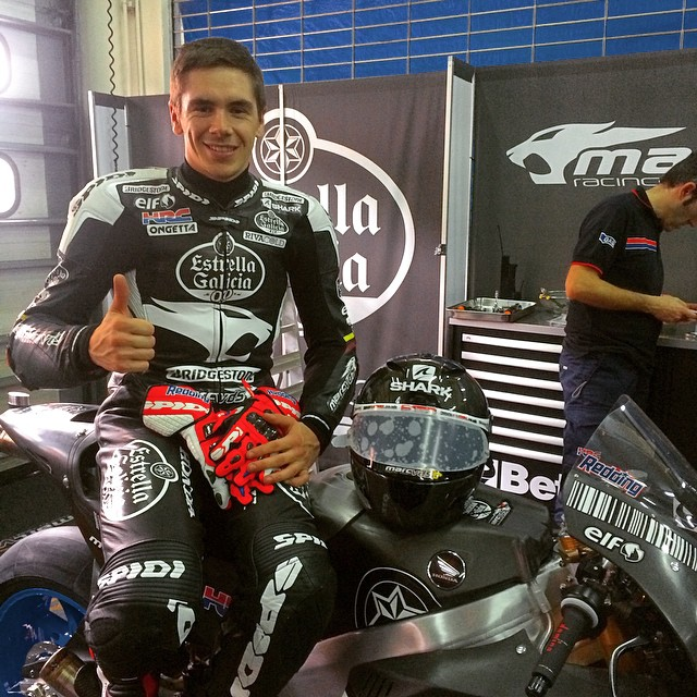 Scott Redding in black leathers