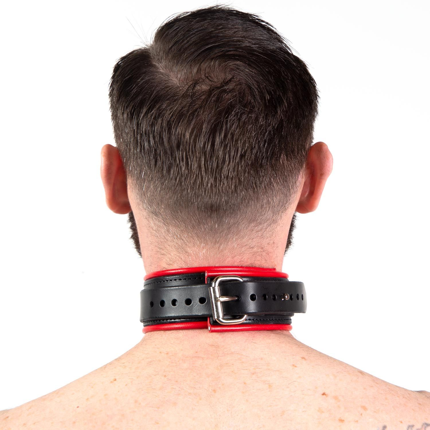 Regulation Piped Locking Leather Collar